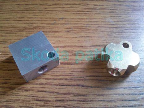 Skoda 105-120 és 130 as fékcső elosztó (3-mas)