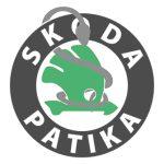 Skoda fekete embléma 80mm új tipus Felicia első, Fabia I.-Octavia I. első-hátsó, és Octavia II.-höz hátsó
