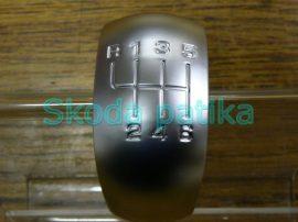 Skoda Octavia II. RS váltógomb mattkróm betét 6 sebességes;