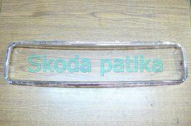 Skoda Superb első lökhárító középső, alsó műanyag szellőző rácshoz króm keret