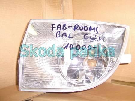 Skoda Fabia 2 Roomster bal ködlámpa 2007 től