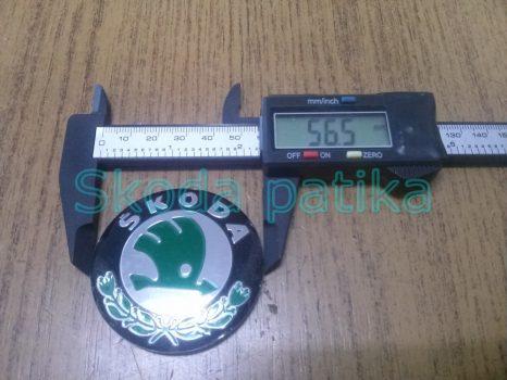 Skoda matrica zöld, alufelnihez is, 56,5 mm